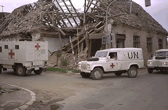 Image: UN peacekeepers in Bosnia