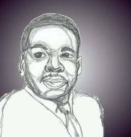 Student sketch of Martin Luther King, Jr.