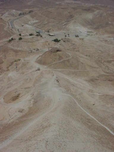 The Roman ramp built to take Masada
