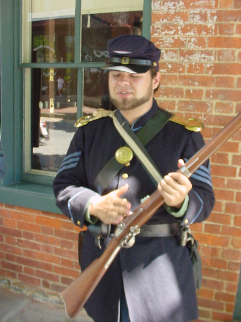 A Civil War Living History Player