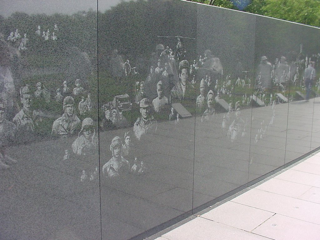 Image: The Korean War Veterans Memorial Wall