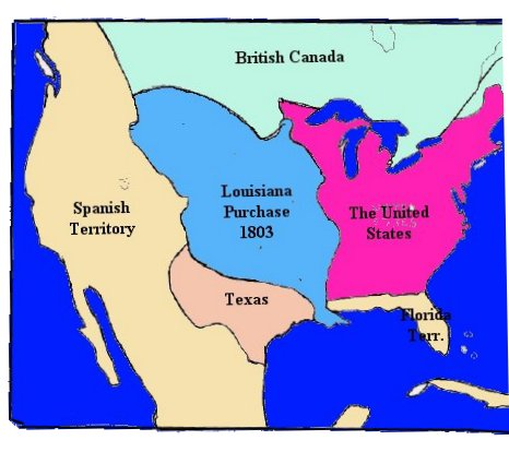America In The Early Th Century Topic Napoleons Loss Is - Map of us territories in 1803