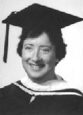 Elisabeth Cassutto graduating from Towson State University, 1977