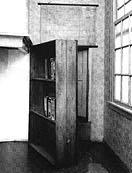The door leading to attic of Anne Frank